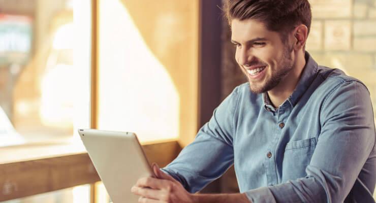 cliente fazendo compras on-line